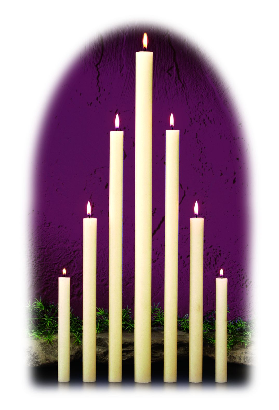 "17"" long, 7/8"" diameter candles"