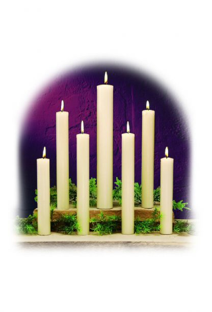 "12"" long, 2-1/2"" diameter candles"