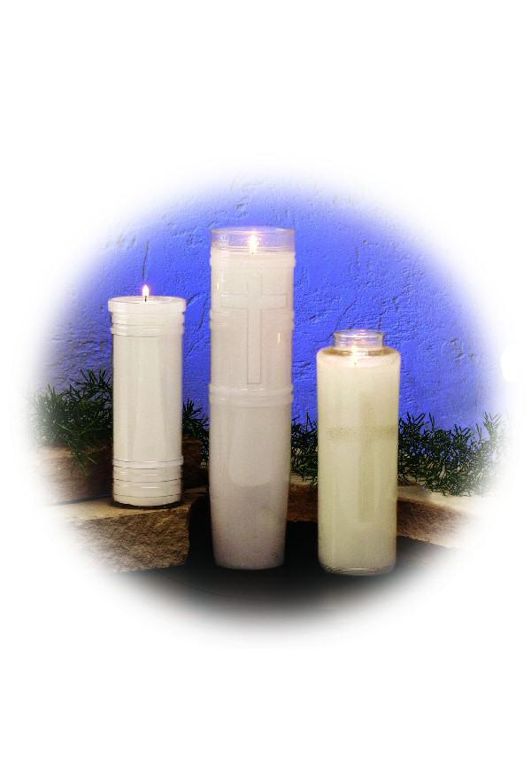 7-Day Open Top Plastic Candles