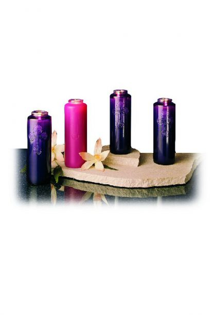 Glass Advent Candles - Set of 4