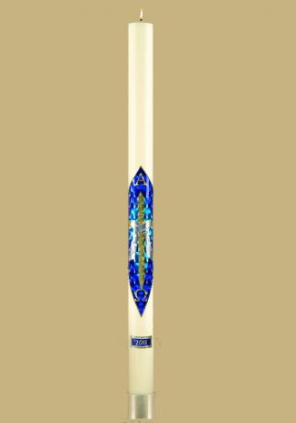 Spirit Eternal Fos Aionios Paschal Candle