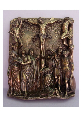 Calvary in Relief Wall Plaque