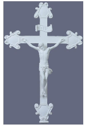 Crucifix in Clean White Resin
