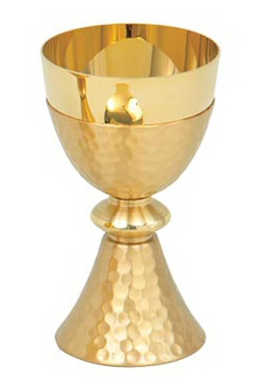 Chalice Gold plated, hammered finish
