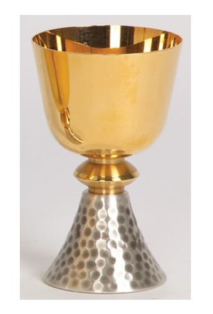 Chalice Gold plated, two-toned bright and satin