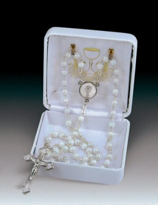 rosary white pearl