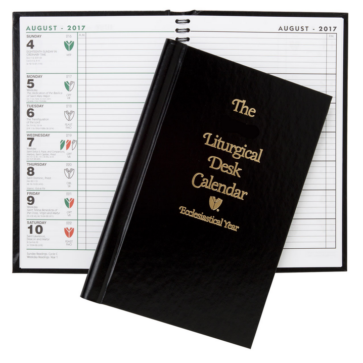 2019 liturgical desk calendar hard back