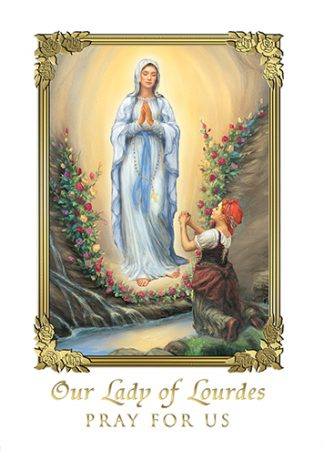 ME738 Mass Card - Our Lady of Lourdes