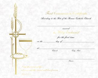 Certificate of Holy Communion