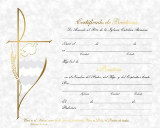Certificate of Baptism Spanish