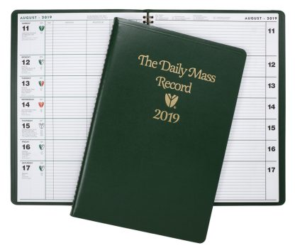 2019 Daily mass record book