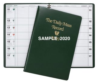 2020 Daily Mass Record Book - Sample